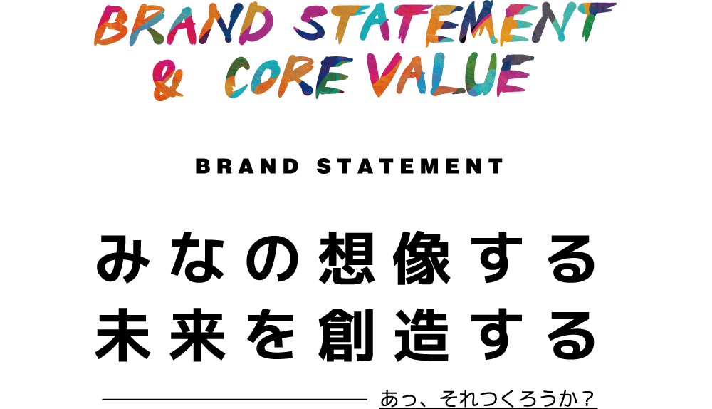 BRAND STATEMENT & CORE VALUE